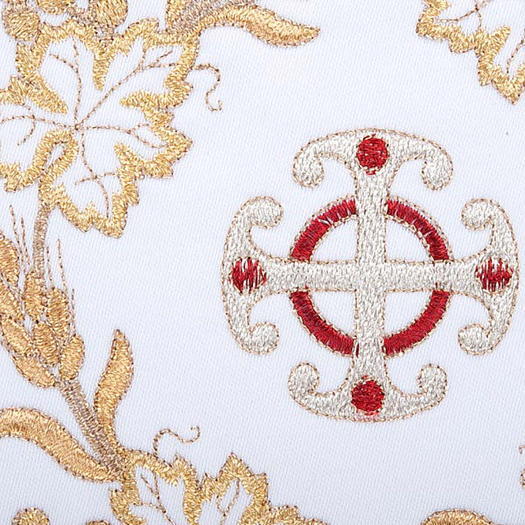 Bielizna kielichowa 4 cz. symbole krzyż kłosy złocone 4