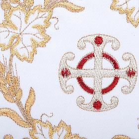 Bielizna kielichowa 4 cz. symbole krzyż kłosy złocone s3