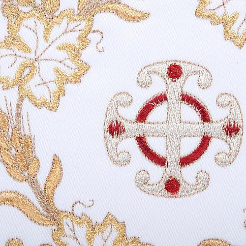 Bielizna kielichowa 4 cz. symbole krzyż kłosy złocone 3