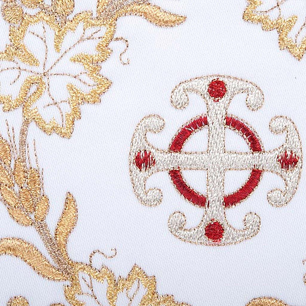 Conjunto altar 4 peças símbolos cruz e trigo dourado 4