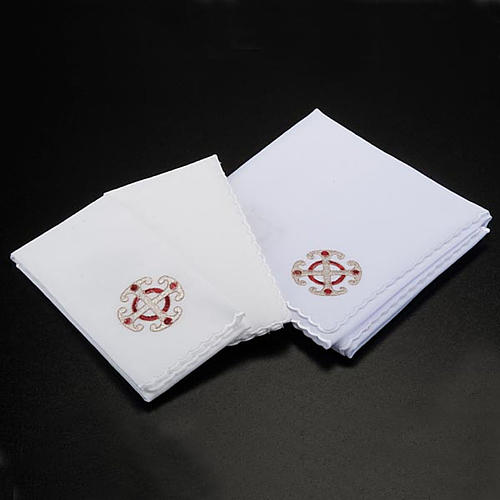 Mass linens 4 pcs, golden cross and ears of wheat symbols 2