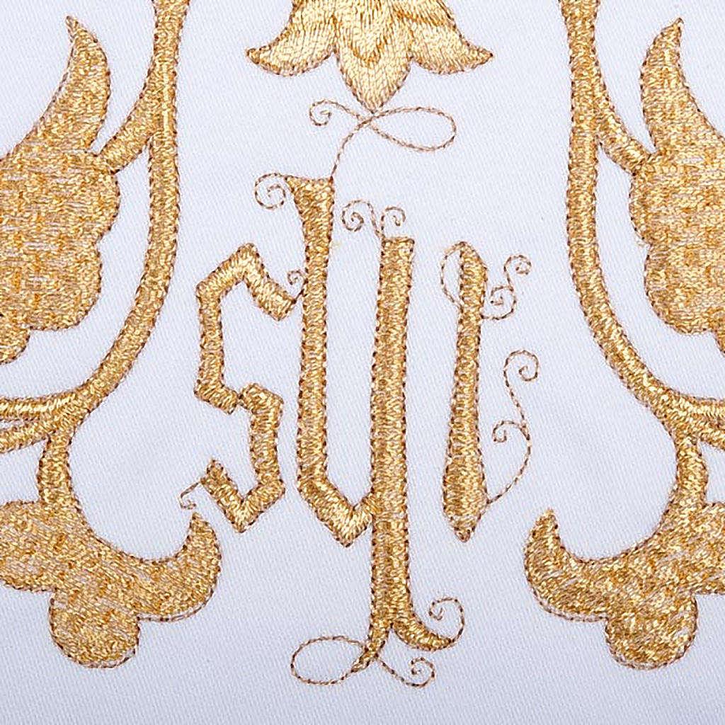 Linge d'autel 4 pièces symbole IHS et décors 4