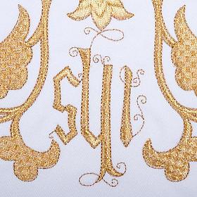 Linge d'autel 4 pièces symbole IHS et décors s3