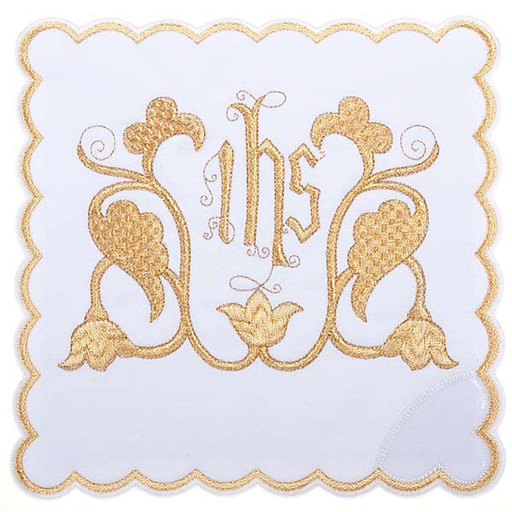 Servizio da messa 4pz. simbolo IHS decori floreali 4