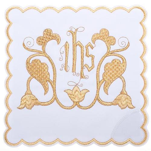 Servizio da messa 4pz. simbolo IHS decori floreali 1