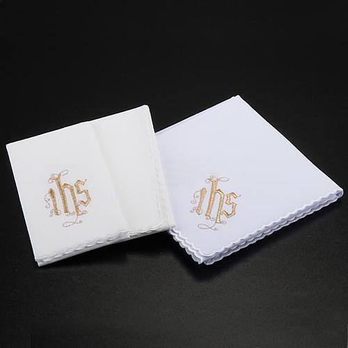 Servizio da messa 4pz. simbolo IHS decori floreali 2