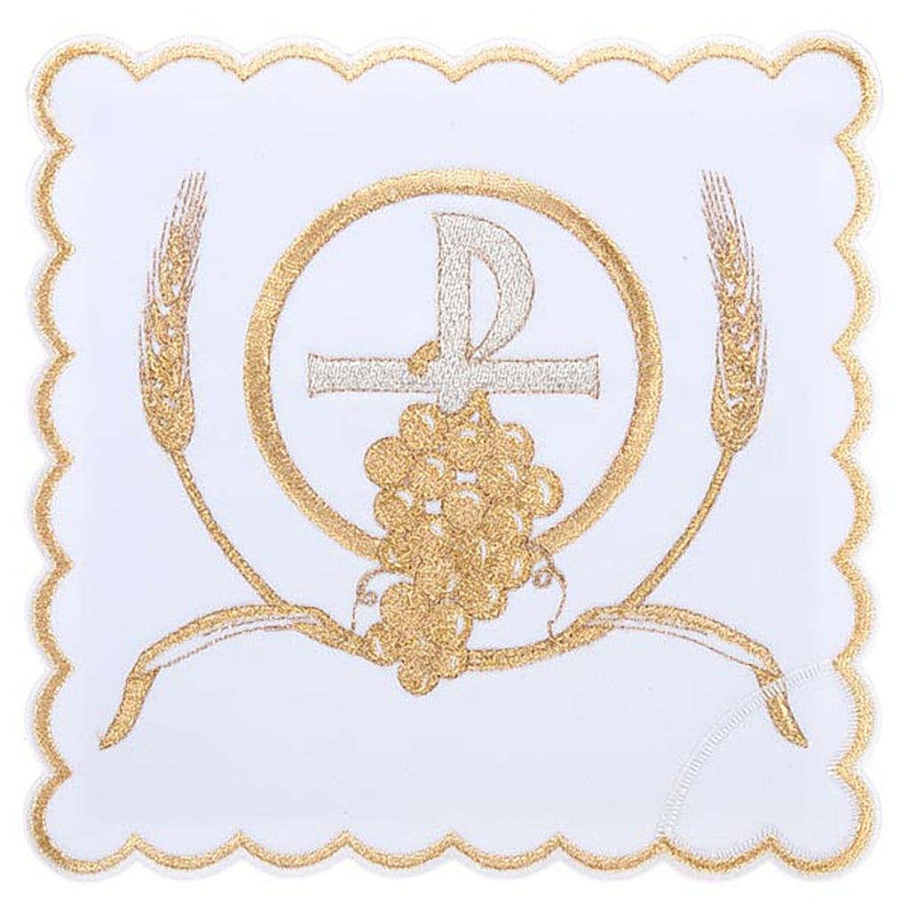 Servizio da messa 4pz. simboli croce P uva spighe 4