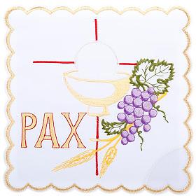 Linges d'autel: Linge d'autel 4 pcs symboles PAX raisin et épis