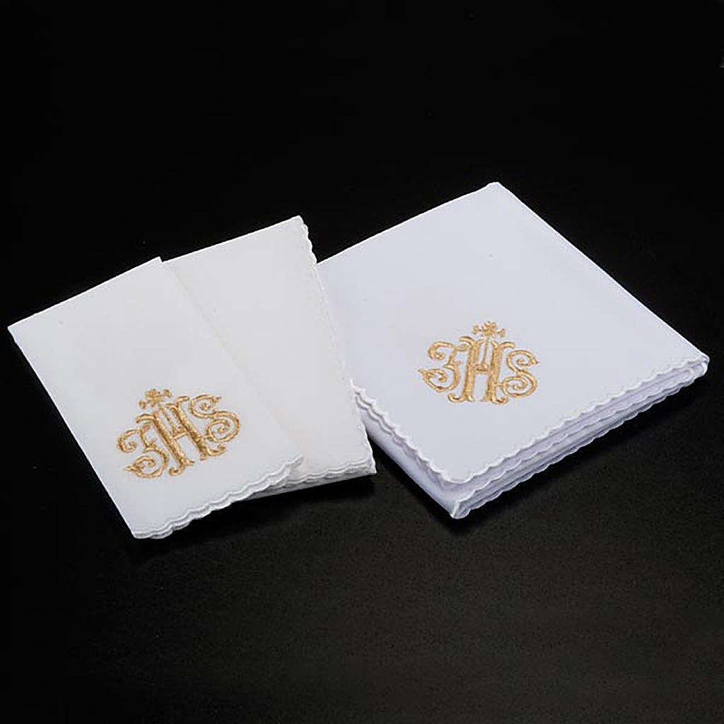 Mass linens 4 pcs. IHS in gold thread 4