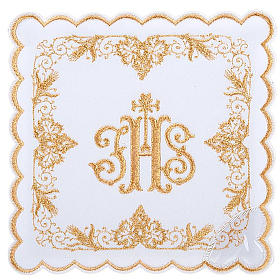 Mass linens 4 pcs. IHS in gold thread s1