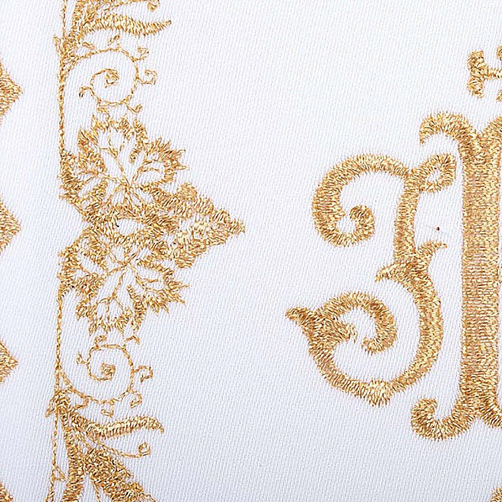 Linge d'autel 4 pcs symbole IHS doré 4