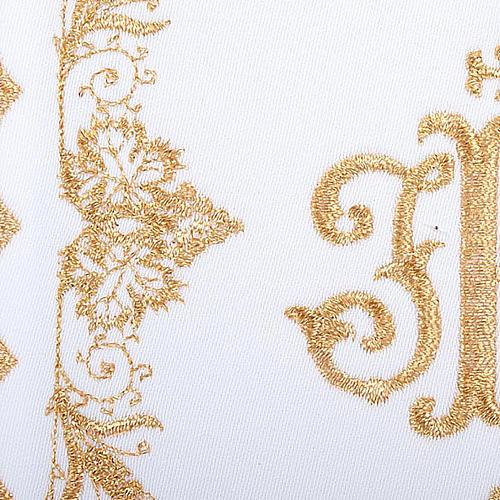 Linge d'autel 4 pcs symbole IHS doré 3