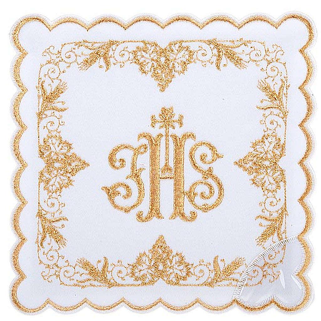Conjunto de altar 4 peças com símbolo IHS dourado 4
