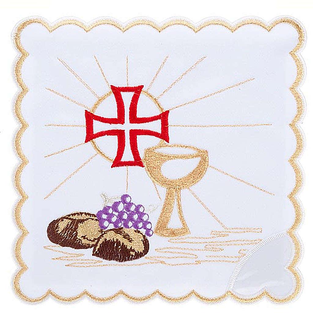 Mass linens 4 pcs. Eucharistic symbols 4