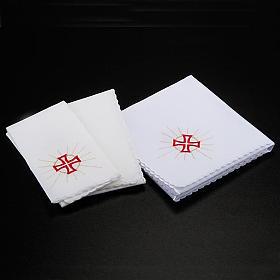 Mass linens 4 pcs. Eucharistic symbols s2