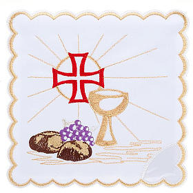 Servicio de altar 4pz símbolos Eucaristía s1