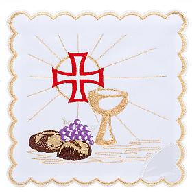 Komplet kielichowy 4 cz. symbole eucharystyczne s1