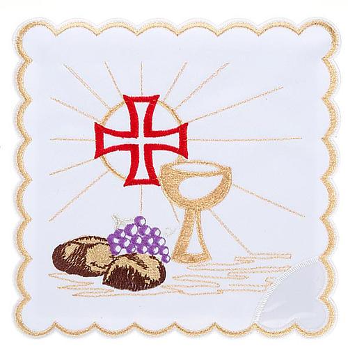 Komplet kielichowy 4 cz. symbole eucharystyczne 1