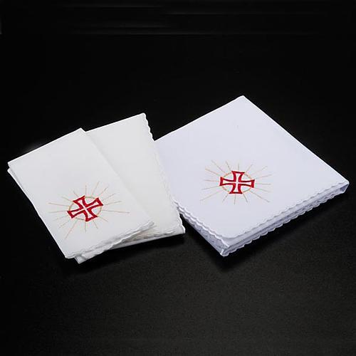 Komplet kielichowy 4 cz. symbole eucharystyczne 2