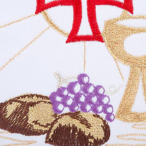 Komplet kielichowy 4 cz. symbole eucharystyczne 3