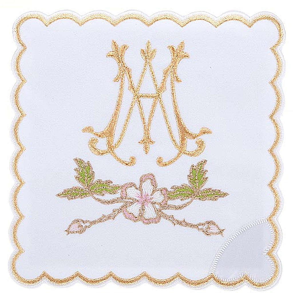 Servizio da mensa 4pz. simbolo Mariano e fiori 4