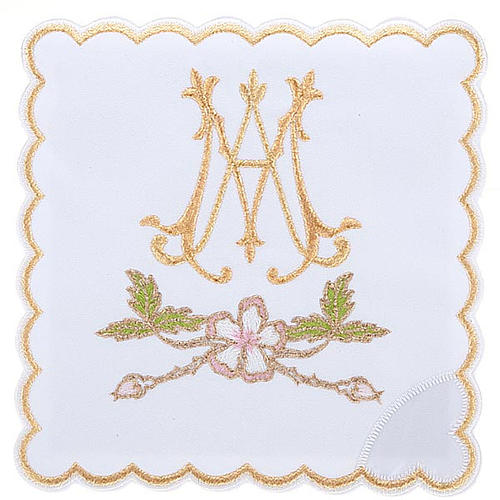 Mass linens 4 pcs. Marian symbol and flowers 1