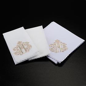 Mass linen set 4 pcs. IHS in gold thread s2