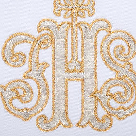Linge d'autel 4 pcs IHS doré s3