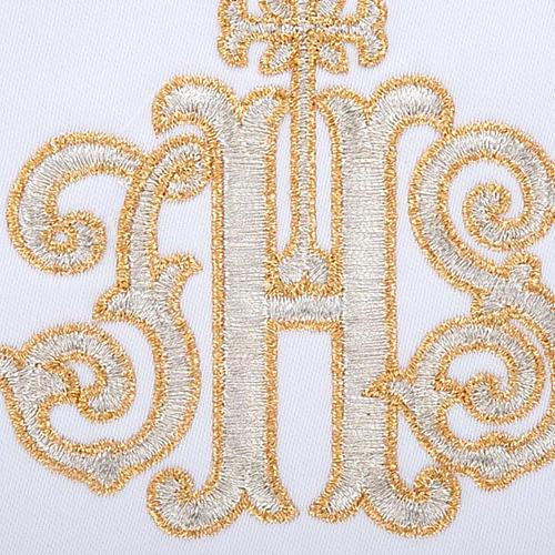 Linge d'autel 4 pcs IHS doré 3