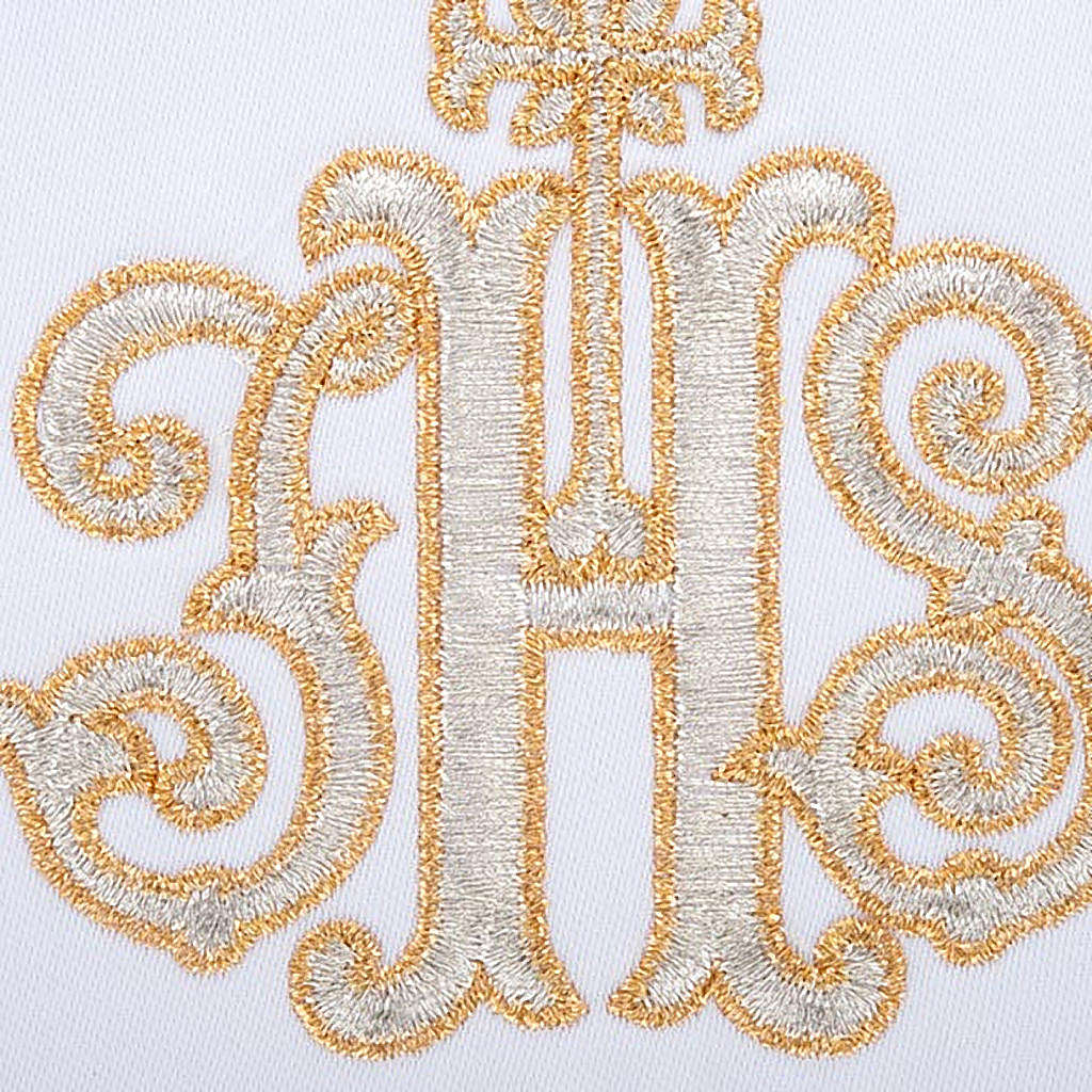 Altar linen set 4 pcs. IHS in gold thread 4