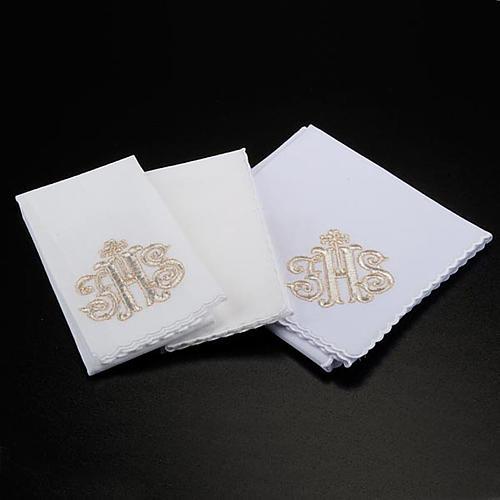 Altar linen set 4 pcs. IHS in gold thread 2