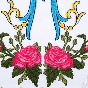 Conjunto de altar 4pz sñimbolo Mariano azul con rosas s3