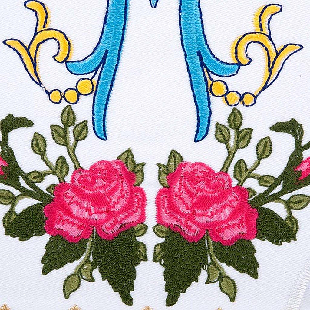 Linge d'autel 4 pcs symbole Marial  et roses 4