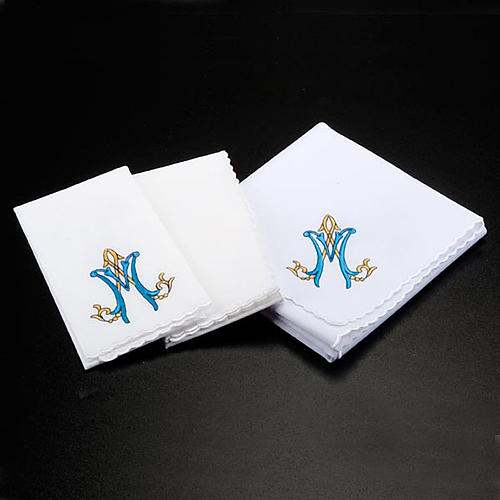 Mass linens 4 pcs. Marian symbol and roses 2