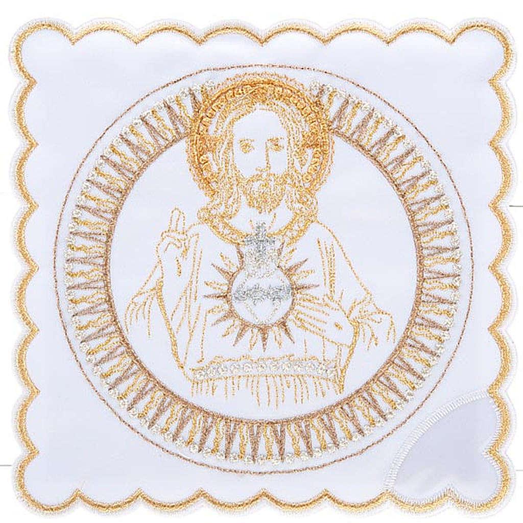 Linge d'autel 4 pcs Sacre Coeur de Jésus 4
