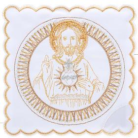 Linge d'autel 4 pcs Sacre Coeur de Jésus s1