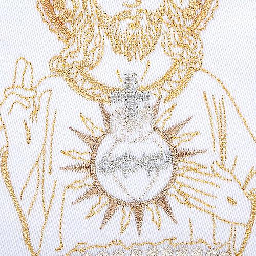 Linge d'autel 4 pcs Sacre Coeur de Jésus 3