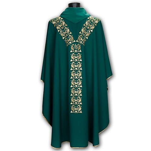 Casula liturgica e stola ricamo IHS 6