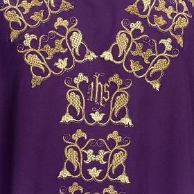 Casula litúrgica e estola bordado IHS s7