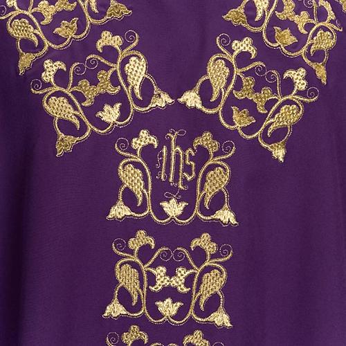Casula litúrgica e estola bordado IHS 7