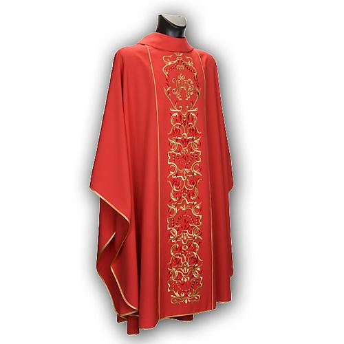 Casula liturgica e stola ricamo con IHS 3