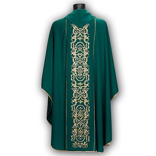 Casula liturgica e stola ricamo con IHS 5