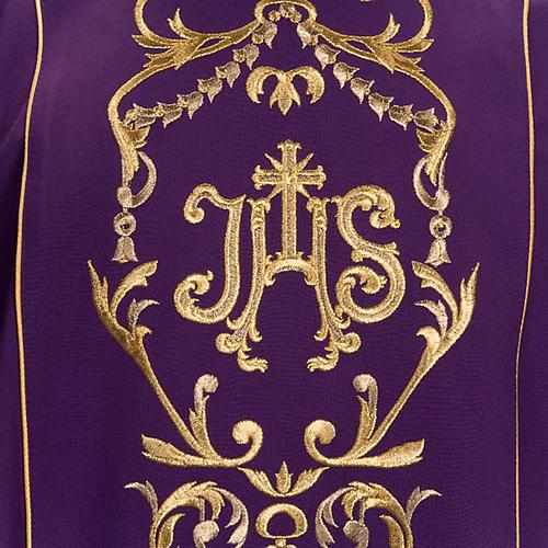 Casula liturgica e stola ricamo con IHS 6