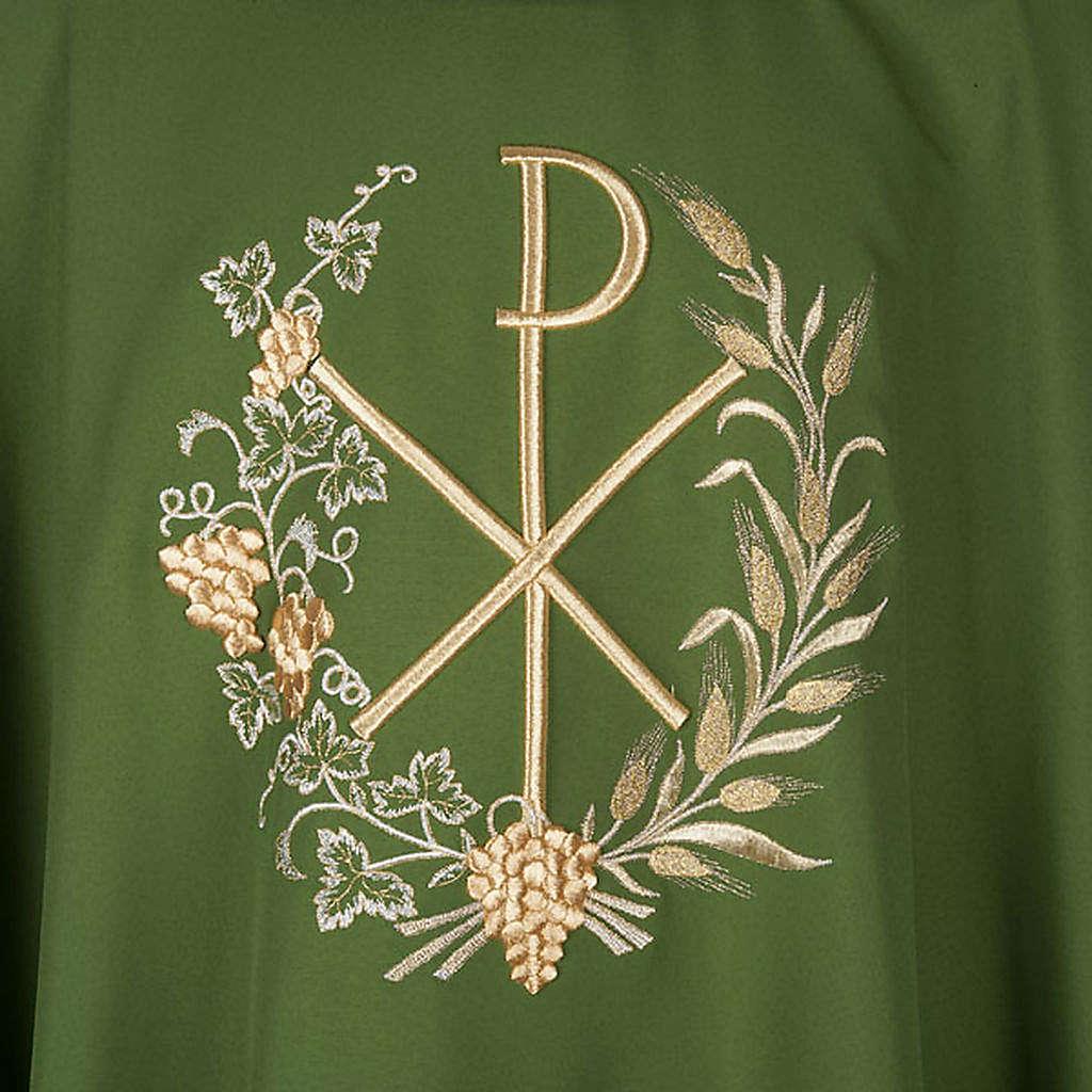 Casulla litúrgica y estola con bordado XP 4