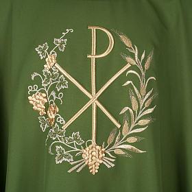 Chasuble et étole liturgiques, décor  Chi-Rho s2