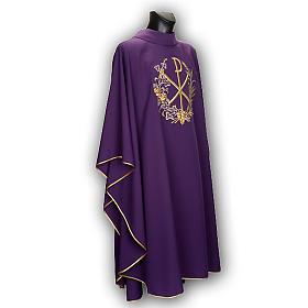 Chasuble et étole liturgiques, décor  Chi-Rho s8