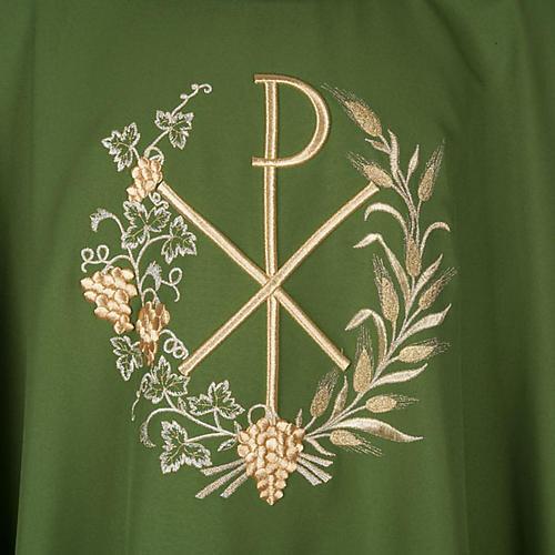 Chasuble et étole liturgiques, décor  Chi-Rho 2