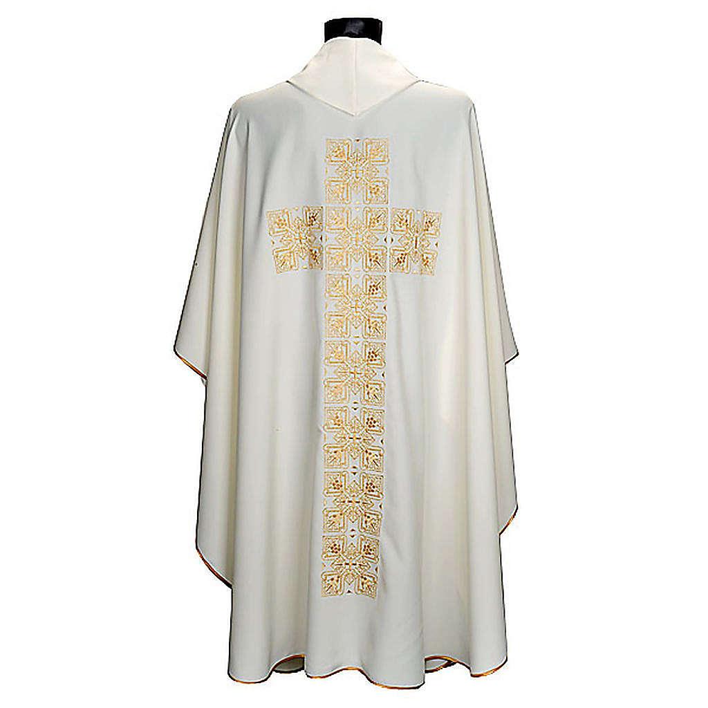 Casula liturgica e stola ricamo croce grande 4