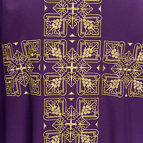 Casula liturgica e stola ricamo croce grande s7