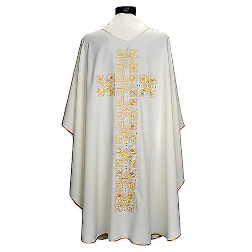 Casula liturgica e stola ricamo croce grande 2